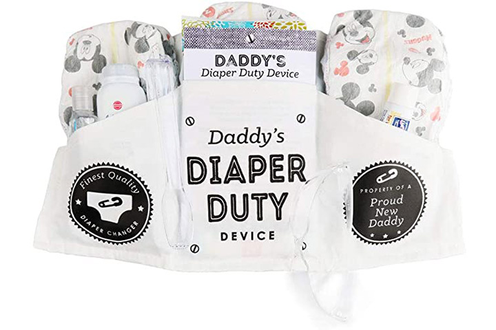 Big Dot of Happiness Daddy's Diaper Duty Device