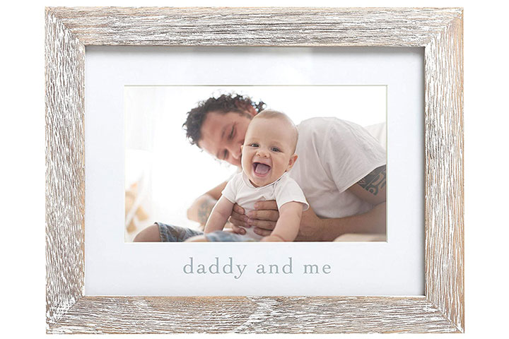 Pearhead Daddy & Me Keepsake Rustic Picture Frame