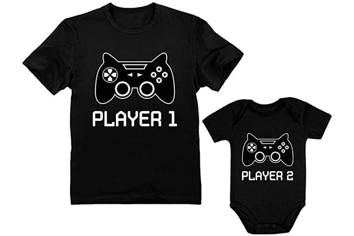 TStars Gamer Shirt and Bodysuit Set