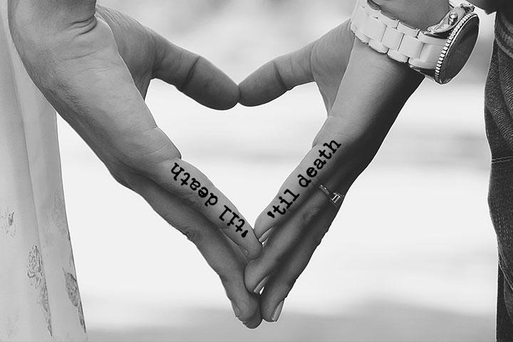 Cute Wedding vows couple tattoo