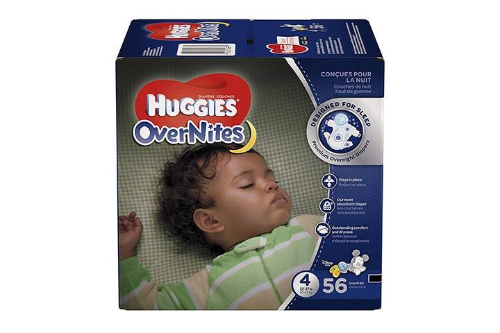 2. Huggies OverNites Diapers