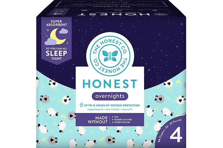 7. Honest Overnight Baby Diapers