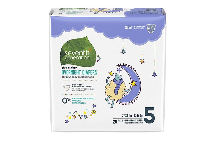 8. Seventh Generation Baby Overnight Diapers