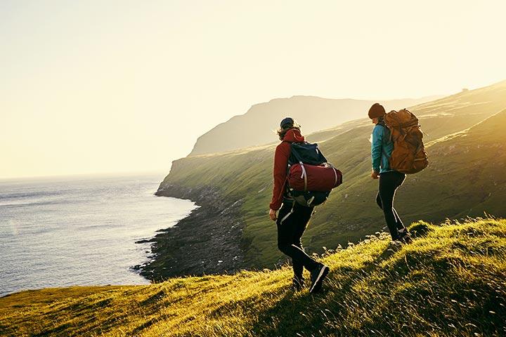 Go hiking: