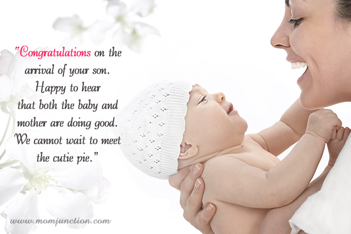Congratulating New Baby Boy Wishes