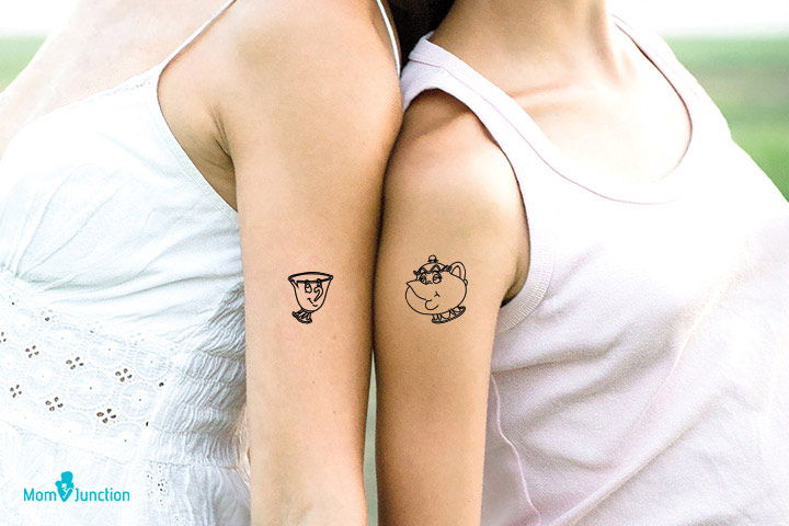 Disney Tattoo for Mother and Daughter