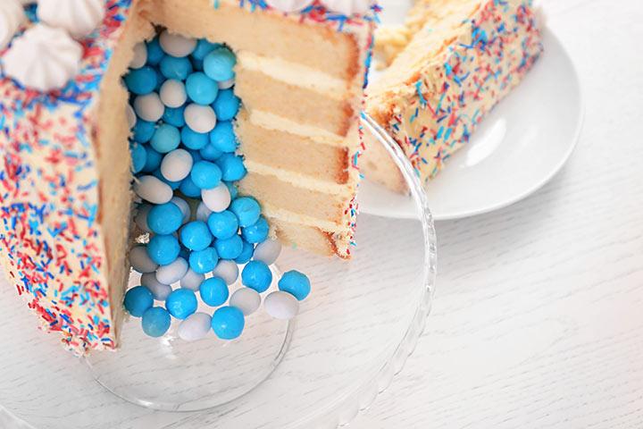 Gender-reveal cake