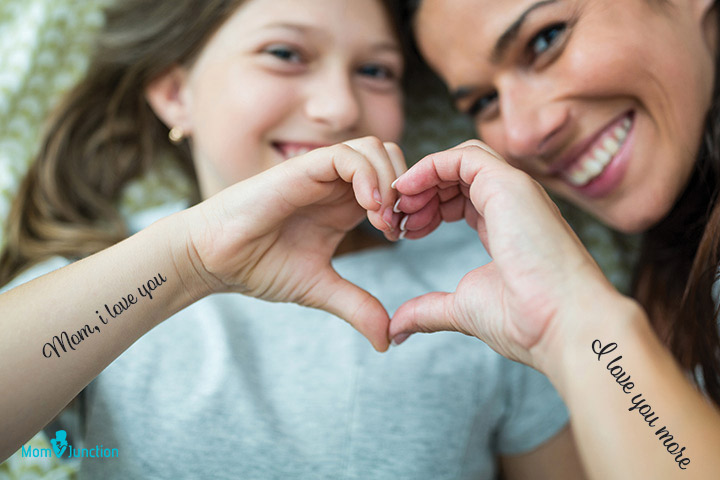 I-love-you tattoo Shows the love of mom towards her daughter