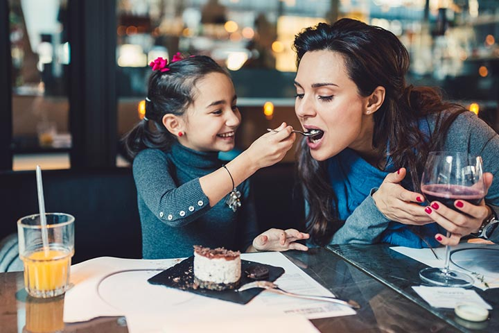 Lunch dinner date with your child