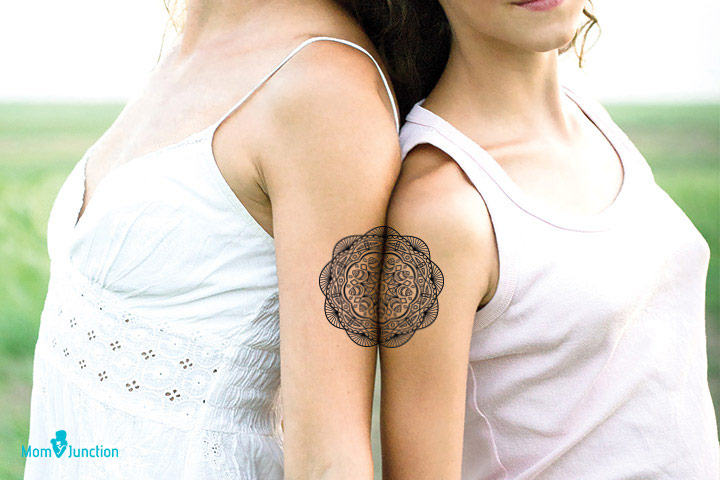 Mother Daughter Mandala Tattoo