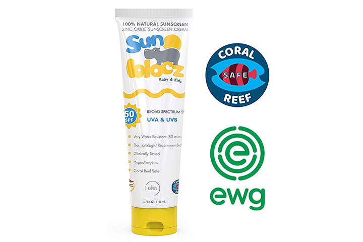 Sunblocz Baby Kids Natural Mineral Sunscreen