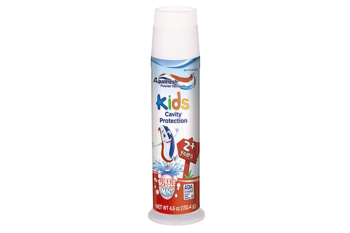 1. Aquafresh Kids Pump Cavity Protection Toothpaste