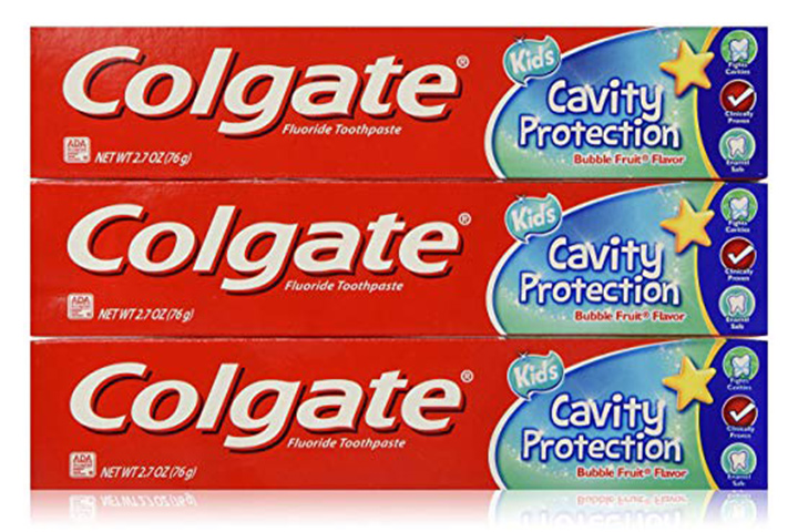 3. Colgate Fluoride Toothpaste Cavity Protection For Kids
