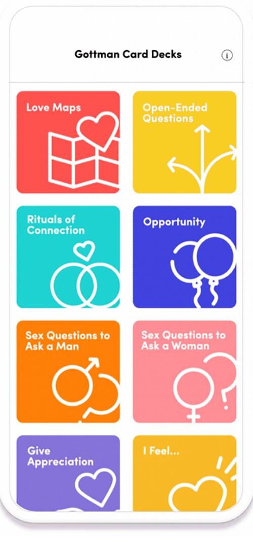Gottman card decks App