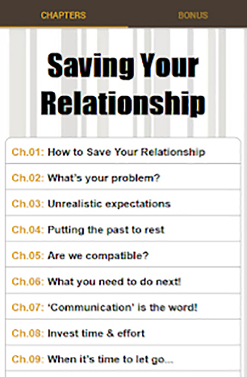 Saving your relationship App for Couples