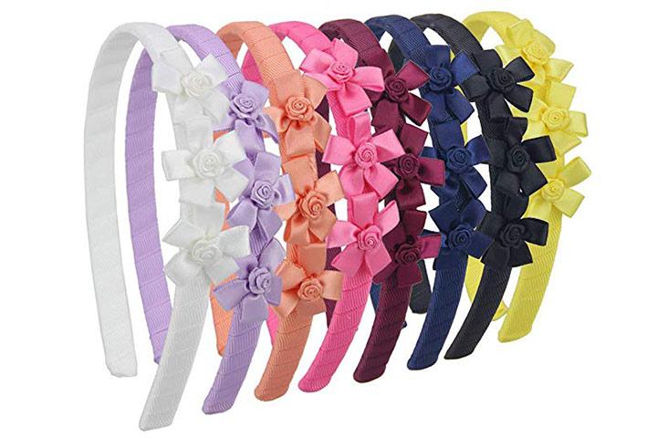 7Rainbows Ribbon Headband with Bows