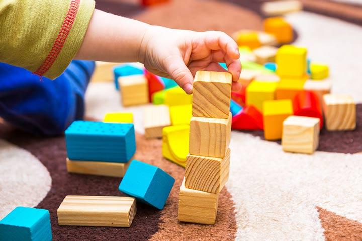 8. Baby blocks idea