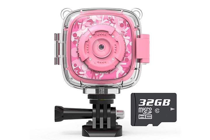 AKAMATE Kids Action Camera Waterproof