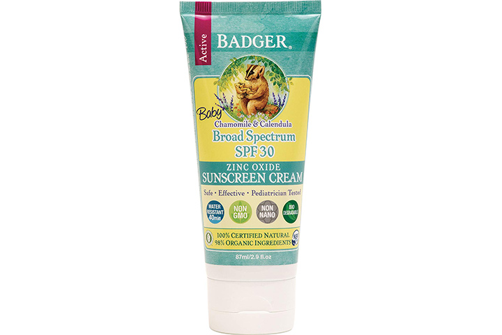 Baby Sunscreen Cream by Badger – SPF 30
