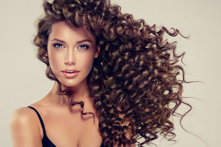 Big voluminous curls