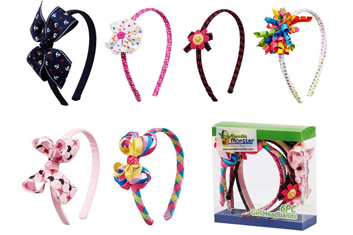 Bundle Monster Ribbon Bows Hair Headbands