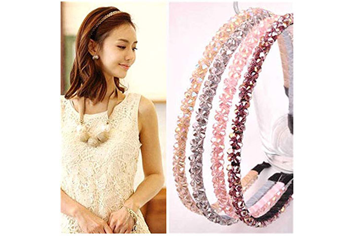 Casualfashion Double Rows Crystal Rhinestone Headband