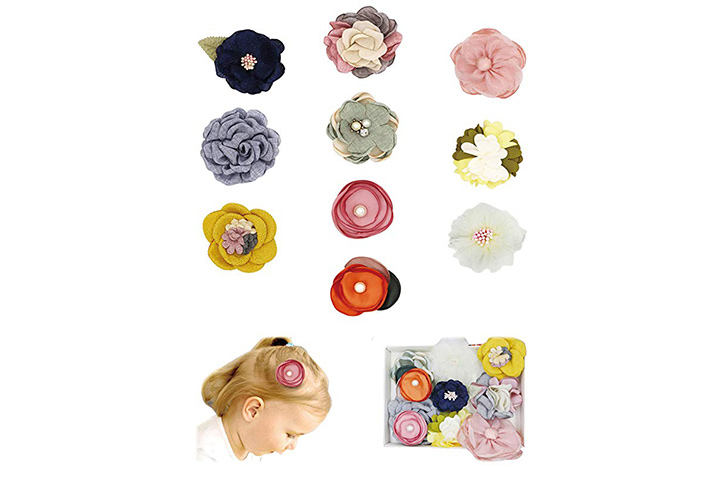 Fancy Clouds Girls Hair Bows flowers clips
