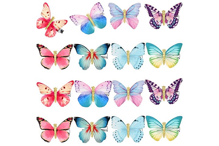 Gejoy Butterfly Clips For Girls