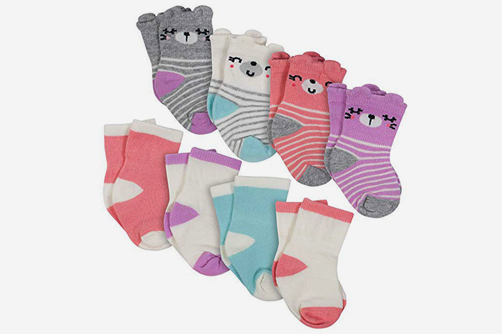 Gerber Baby Girls Wiggle Proof Sock