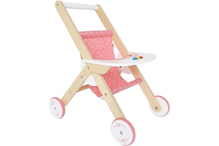 Hape Wooden Baby Doll Stroller
