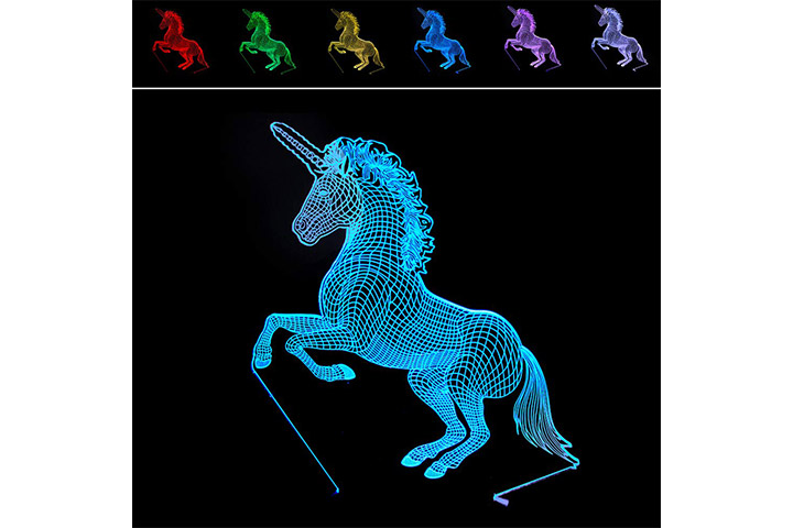 KiBlue 3D Unicorn Light