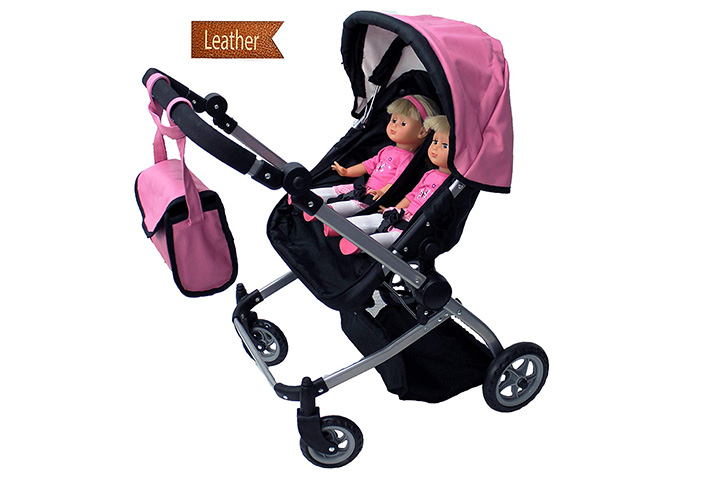 Mommy & Me Doll Collection Twin Doll Pram