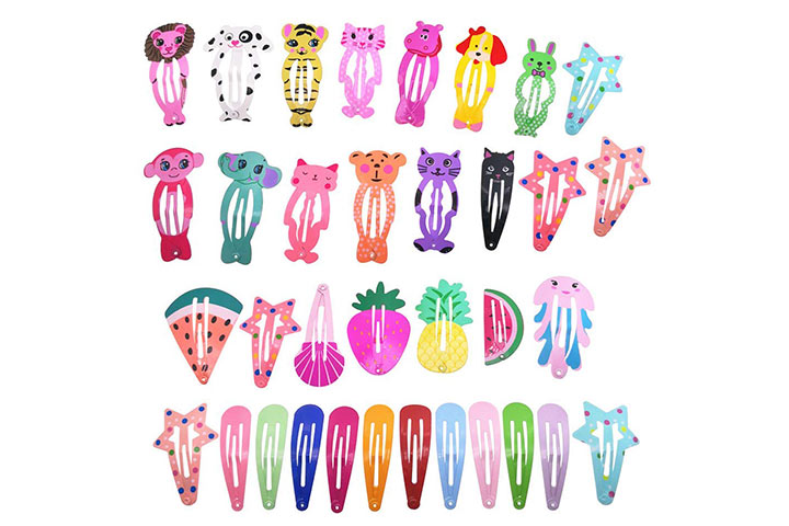 PIDOUDOU Assorted Pattern Print Hair Clips