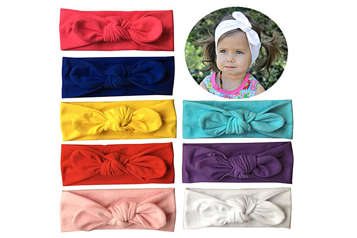 Qandsweet Baby Girl's Elastic Headbands
