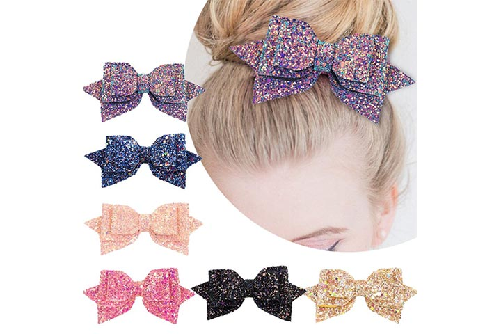 Yeaplike Glitter Hair Clips 4.4