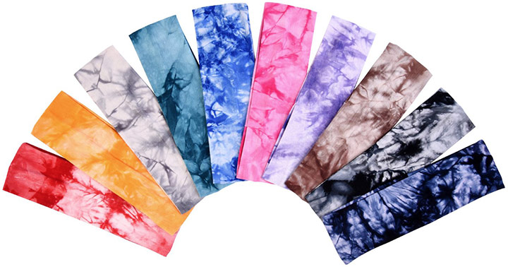eBoot Tie Dye Cotton Stretch Headbands