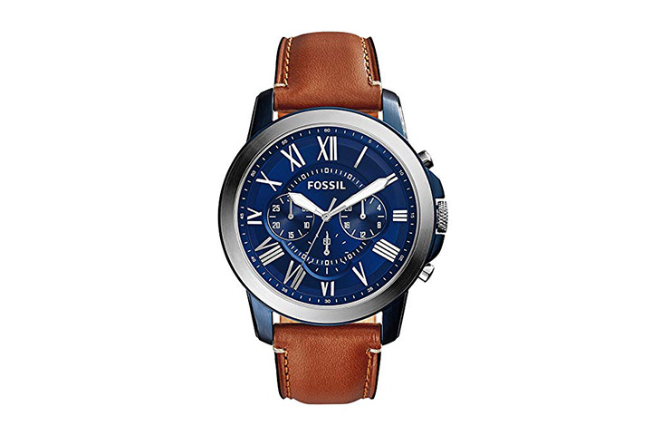 10. Fossil Grant leather chronograph watch.jpg