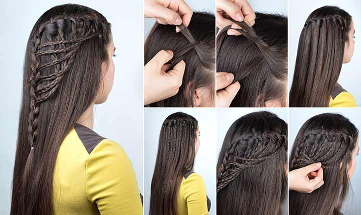 10. Waterfall lace braid