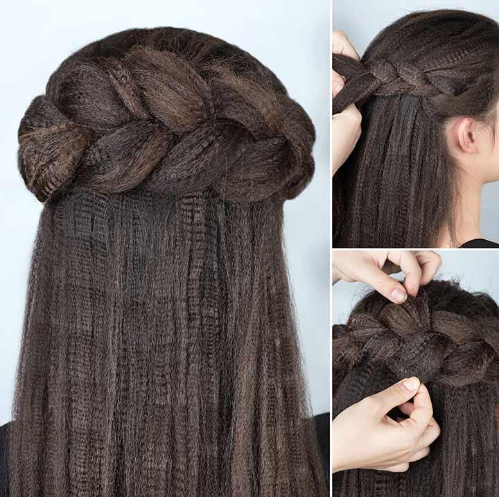 12. Crown braid