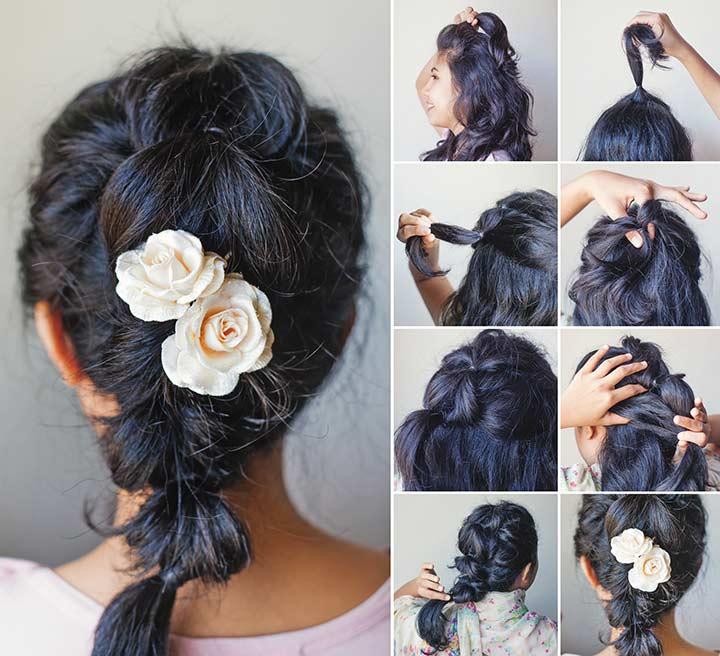 20. Messy ponytail