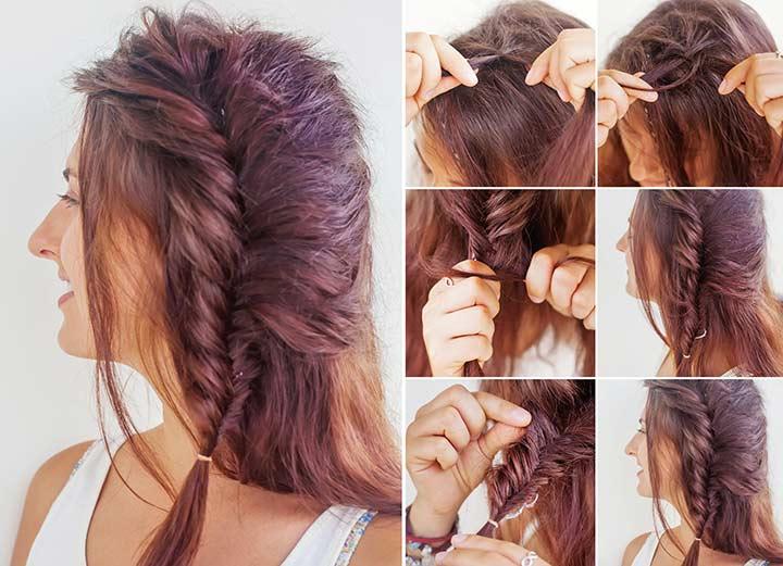 25. Twisted fishtail braid