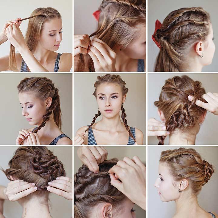 3. Twisty braided bun