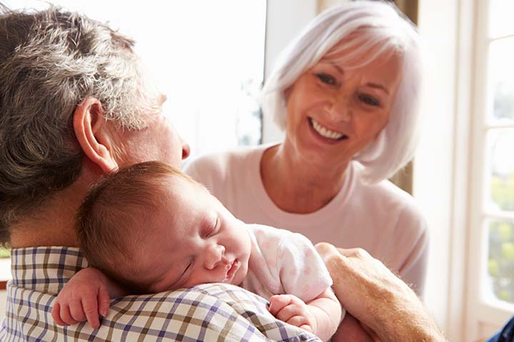 4. Baby's First Meet With Grandparent It Makes For The Perfect Blanket