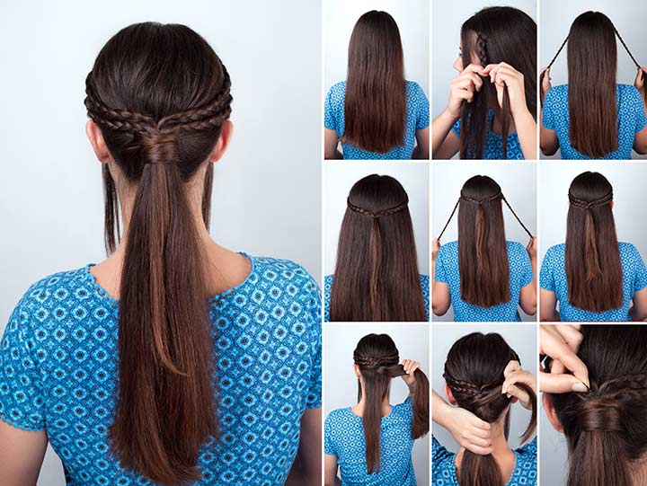 9. Knotted braid pony