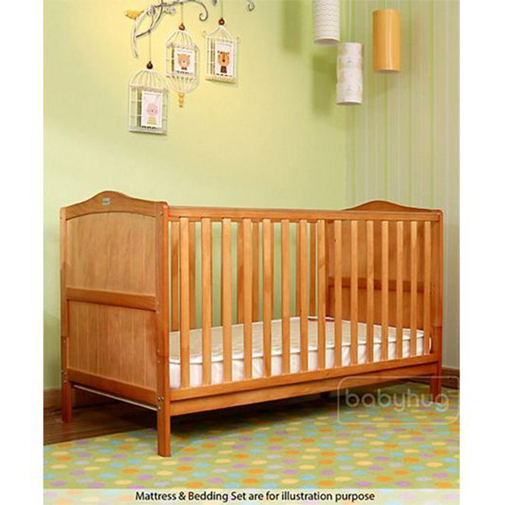 Babyhug Merlino Wooden Cot Cum Bed