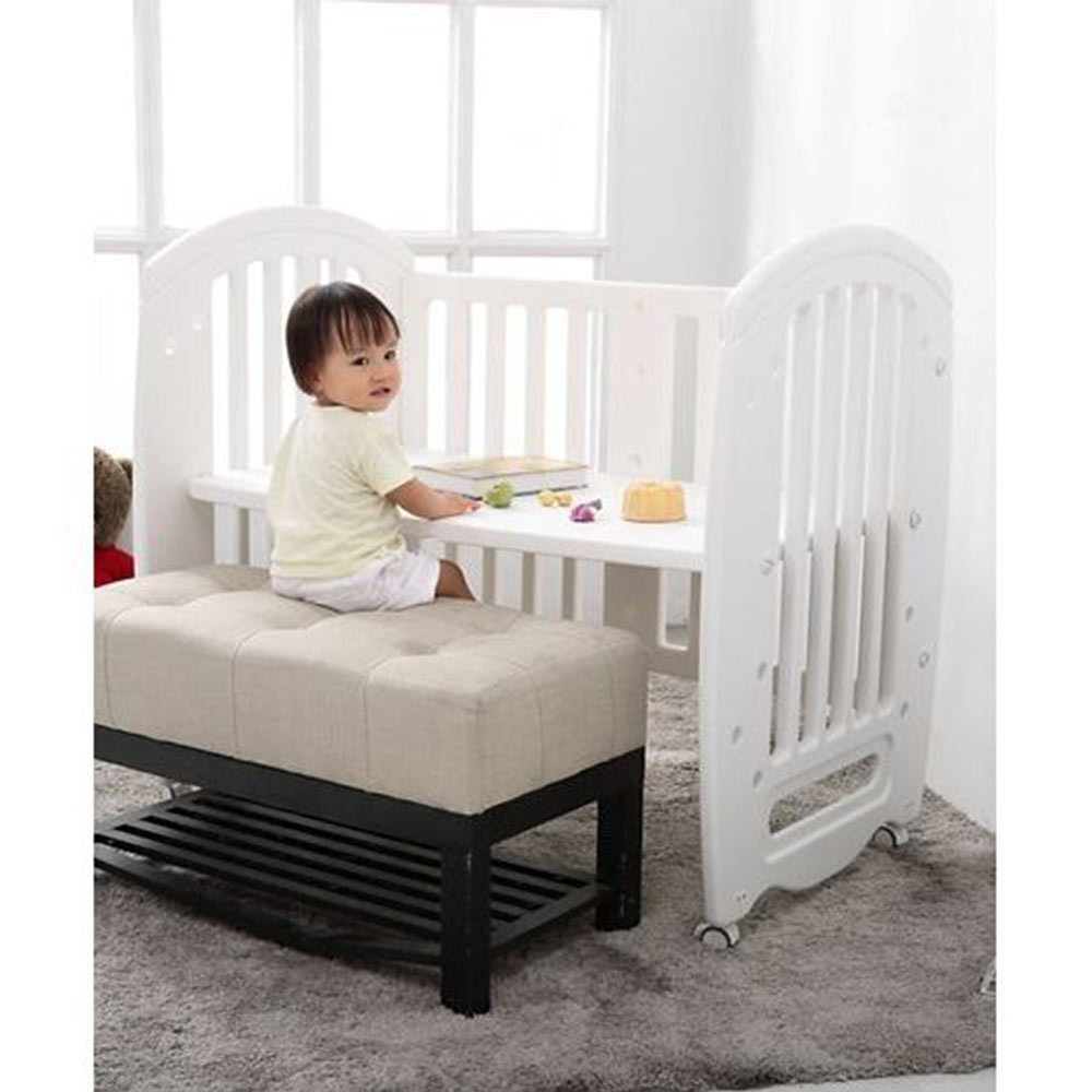 Babyhug Compacto 3 in 1 Cot Rocker Cum Study Table-3