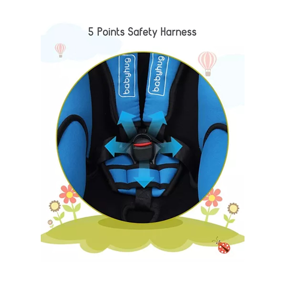 Babyhug Cruise Convertible Reclining Car Seat With Side Impact Protection