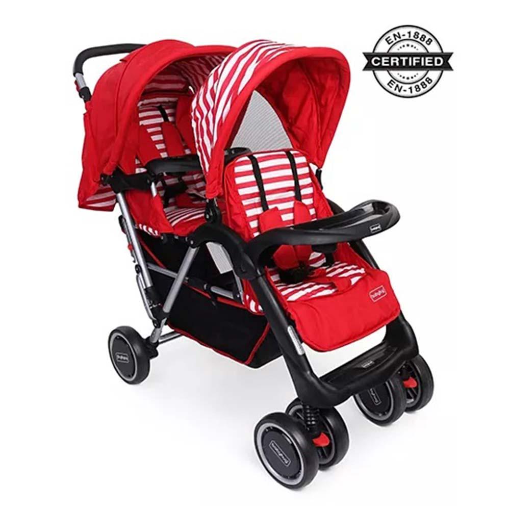 Babyhug Easy Foldable Twin Stroller