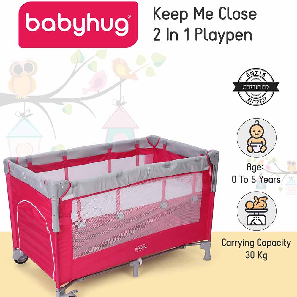 Babyhug Playpen Cum Baby Cot With Mosquito Net