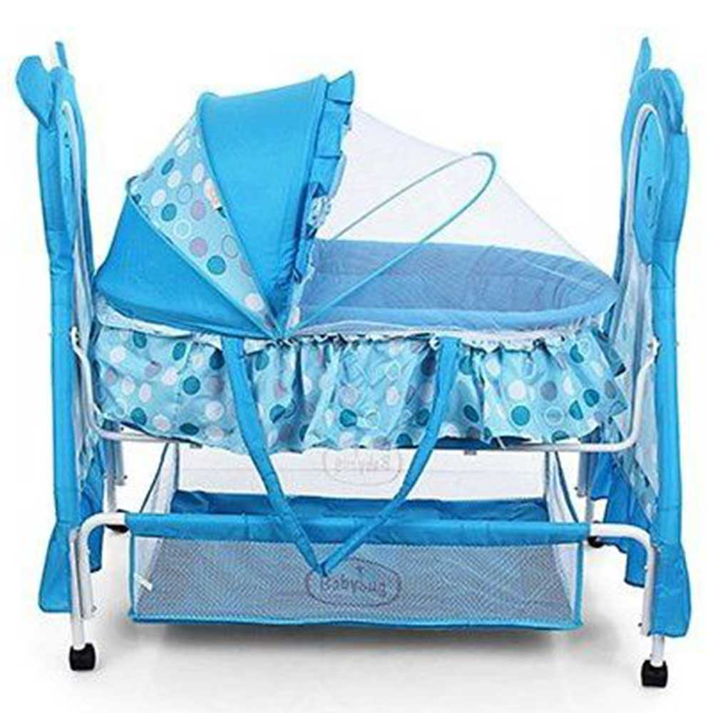 Babyhug Love Teddy Bassinet With Storage Basket & Mosquito Net